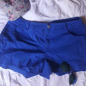 H&M blue shorts size 14